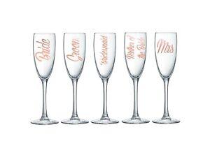 Wedding Flute Glass Champagne Prosecco Wine Bride Groom Etc - Custom Personalise