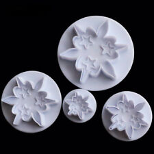 3 Star Flower Shape Cookie Crust Craft Cutter Set Cake Pastry Chocolate Mold