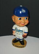 Vintage 1970s Los Angeles Dodgers Baseball Bobblehead Gold Base