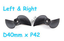 "1 Pair D40xP42 2-Blade RC Boat Left&RightPropeller for 3/16""Shaft US038-00309AB"