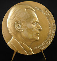 Medal Jacques Chaban Whole Is Love J H Coeffin 1980 Politician Medal