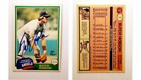 Butch Hobson Signed 1981 O-Pee-Chee #7 Card California Angels Auto Autograph