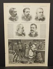 Harper's Weekly 1Pg Sketch in a Hudson Bay Company Trading Store c1890 B6#70