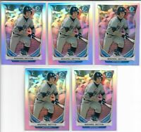 2014 Bowman Chrome Draft Michael Gettys (5) Card Refractor Lot Red Sox Rookie