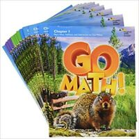 4th Grade 4 Go Math Multi-Volume Student Edition Bundle 2015 Chapter Booklets