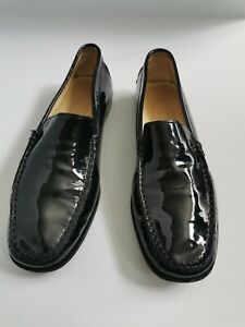 TOD's Women Patent Leather Loafers Black Size 5/38 RRP was £245
