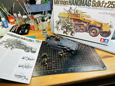 Tamiya 1/35 German Hanomag Sdkfz251/1 And Figures Built And Painted