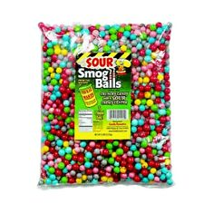 TOXIC WASTE Sour Smog Balls Bulk Poly Bag 5 LB Of Loose Candy Assorted Flavor