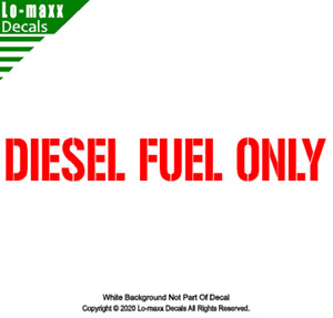 Diesel fuel Only Military Stencil Font Superior High Quality Die Cut Vinyl Decal