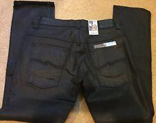 Nudie Jeans Thin Finn 34x32 NWT Back To Black