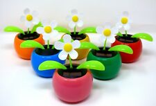 New Solar Powered Dancing Flip Flap~White Daisy Assorted Qty 1~Picked at Random
