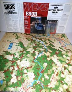 S&T MOVES Mag #59 w/Game BAOR British Army on Rhine 1980's op Verified Complete