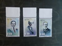 2015 LUXEMBOURG PERSONALITIES SET OF 3 MINT STAMPS MNH