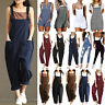 Womens Dungarees Harem Strap Pants Loose Jumpsuit Baggy Trousers Overalls Jeans