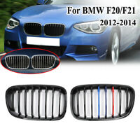 Gloss Black M color Front Kidney Grille Grill For BMW F20 F21 1 Series 2011-2014