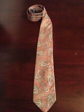 BURBERRY PAISLEY TIE SILK LIGHT MAUVE MULTI COLOR PAISLEY DESIGN