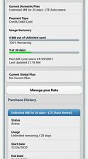 At&T Grandfathered Unlimited Data Account - $34.99 DataConnect for Tablet / iPad