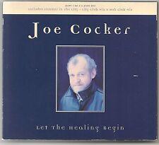 JOE COCKER LET THE HEALING BEGIN +  LIVE TRACKS & MIXES 2 CD SINGLE SET 1994