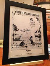 "Framed Original Elton John ""Goodbye Yellow Brick Road"" Lp Album Cd Promo Ad"