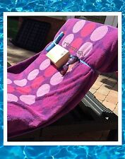 BEACH TOWEL BANDS STRAPS SUNBED/LOUNGER POOL - Pack of 4 - Holidays Cruise