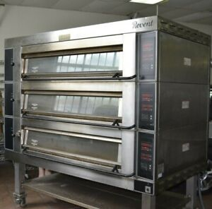GREAT USED REVENT 3 deck commercial pizza pastry bakery oven HOUSTON TEXAS