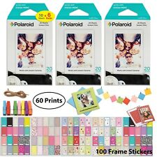 Polaroid Instant Film (60 Sheets) and Picture Frame Accessory Bundle