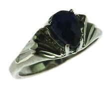 BLUE SAPPHIRE CEYLON IN A STERLING SILVER RING, SIZE (CUSTOMIZABLE)RSS1005