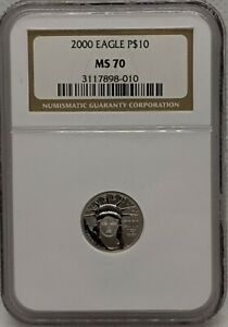 2000 1/10 oz Platinum Eagle $10 NGC MS70 - 1/10 oz Platinum