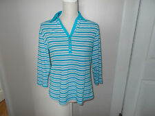 3/4 Sleeve V Neck Regular Striped Tops & Shirts for Women