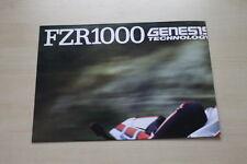 165241) Yamaha FZR 1000 Genesis Poster Modellprogramm Prospekt 1987