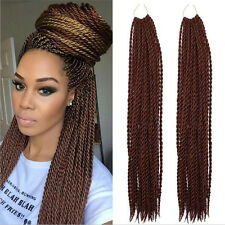 """22"""" Synthetic Ombre Brown Kanekalon 30Small Senegalese Braid Twist Crochet Hair"""