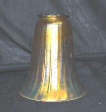 Vintage Art Nouveau Gold Iridescent Desk Lamp Shade