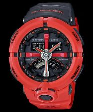 GA-500P-4A Red G-shock Men's Watches Analog Digital Resin Band New