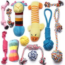 12 Pack Dog Rope Toys Squeaky Plush Toys,Dog Chew Toys for Puppies,Small Dogs