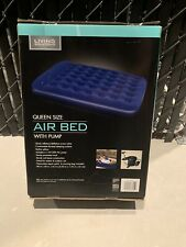 Living Solutions 80in x 60in x 8.5in Queen Size Air Bed with 110-120V Ac Pump