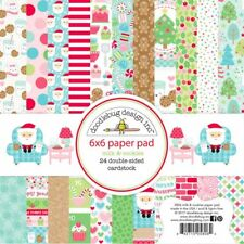 Scrapbooking Crafts Doodlebug 6X6 Paper Pad Milk & Cookies Christmas Santa Candy