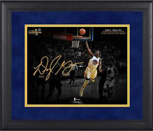 Draymond Green Warriors Framed 11x14 2017 Finals Champs Hanging Lay-Up Photo