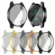 For Huawei Watch GT 2 46mm Electroplate Transparent TPU Protective Full Cover