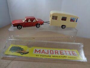 Majorette no.235 BMW 3.0csi & Digue Caravan , Boxed Vintage Diecast