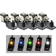 5pcs 12V Car Van Dash Toggle Switch Missile Style ON/OFF illuminated LED Light