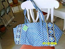 NWT Vera Bradley RETIRED Riviera Blue - Large Duffle Bag Travel