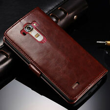 For LG G4 Slim Flip Wallet Leather Case Card Holder Photo Pouch Stand Cover Skin