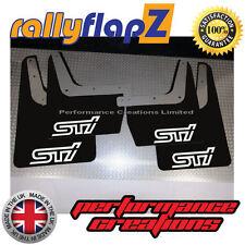 rallyflapZ SUBARU IMPREZA Classic (93-01) Mudflaps Black STi Logo White 4mm PVC