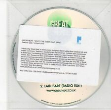 (DS983) Great Heat, Who's The Dude / Laid Bare - 2013 DJ CD