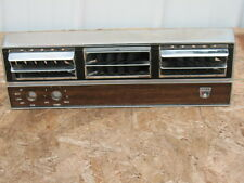 1964 1965 1966 Ford Mustang center Air Conditioning Faceplate chrome and wood