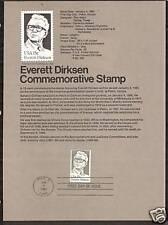 #1874 EVERETT DIRKSEN Senator Military 1981 Souvenir Page