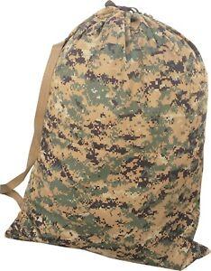 USMC BARRACKS BAG MARPAT Woodland camo Large 24x31 Laundry Bag Made in USA