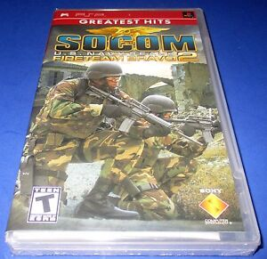 Socom U.S. Navy Seals Fireteam Bravo 2 Sony PSP Factory Sealed! Free Shipping!