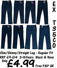 Various Sizes NEW!! Blue Max Banner Girls Greenwich Trousers Black