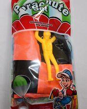 Yellow Man Orange PARACHUTE SET NEW Adventure Sport Character throw kids boy toy